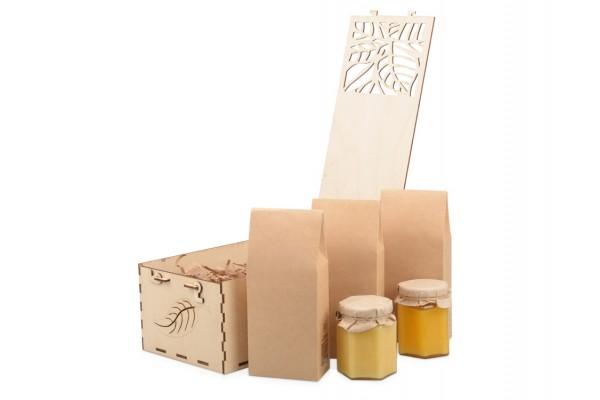 Подарочный набор «Tea with Honey Deluxe» с ассорти мёда и чая