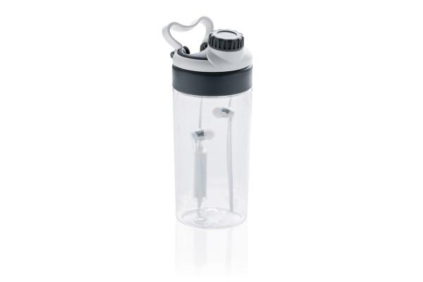 Бутылка для воды с беспроводными наушниками, белая