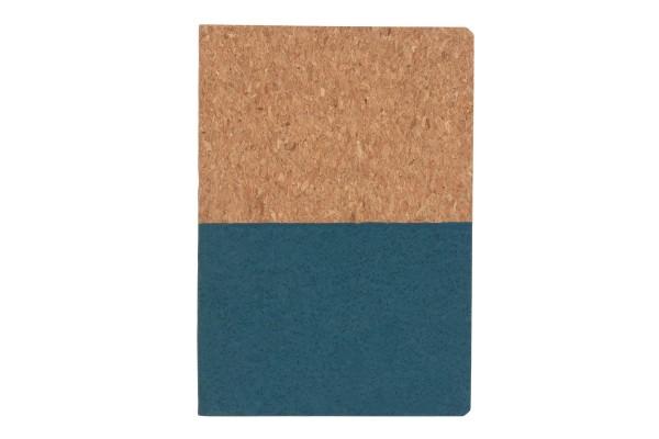 Блокнот в пробковой обложке, синий
