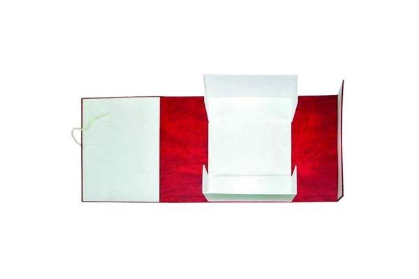 Короб архивный, разборный, бумвинил/картон, на 2-х завязках, 60 мм кор., 320х60х242 мм, красный цв., ИМИДЖ, пакет