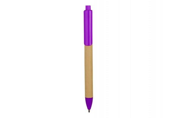 Ручка картонная шариковая Эко 2.0 фиолетовая