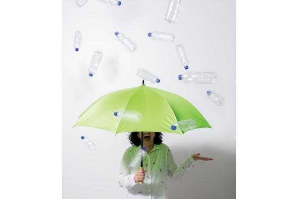 Автоматический эко зонт-антишторм из RPET 23 ярко-зеленый