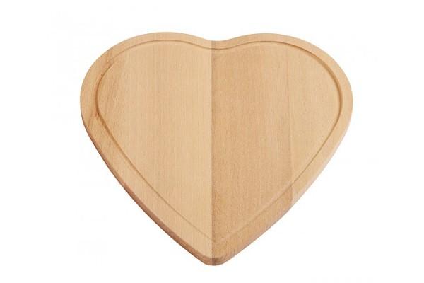Доска для резки из дерева в виде сердца (коричневый)