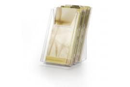 Накопитель настенный COMBIBOXX, ф. 1/3 А4, 3 секции, прозрачный, для презентационных материалов