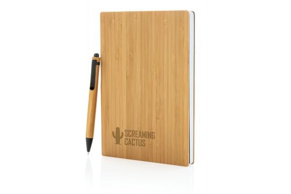 Набор из блокнота и ручки Bamboo, А5