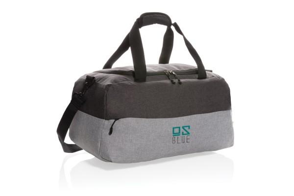Двухцветная дорожная сумка с RFID из RPET