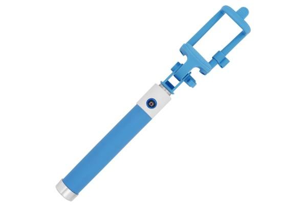 Монопод для селфи Buro Bluetooth, беспроводной, голубой
