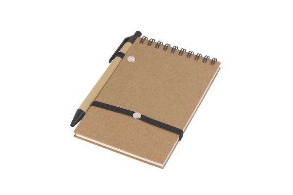 Блокнот Эко с ручкой чёрный