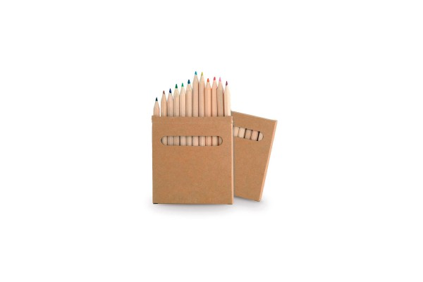 Набор цветных Эко карандашей BOYS (12шт), 9х9х1 см, дерево, картон