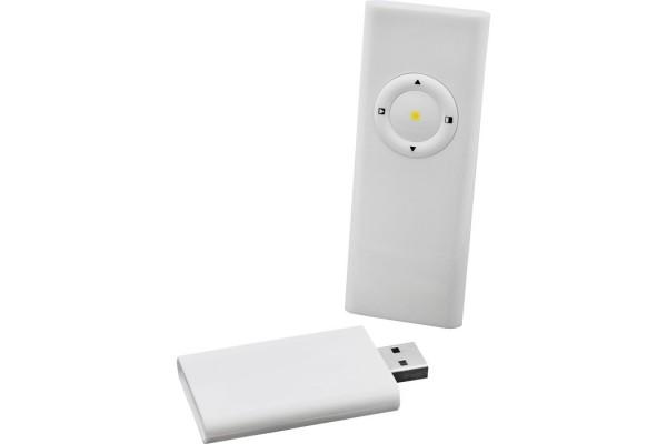 Комплект беспроводной для презентаций с лазерной указкой (радиус действия до 15 метров); 15,5х8,5х2,