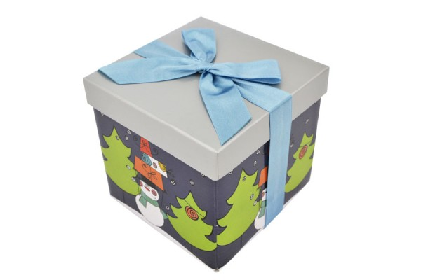 Коробка подарочная раскладная, НОВЫЙ ГОД, 12*12*12 см, картон