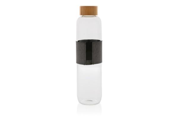 Бутылка Impact из боросиликатного стекла с бамбуковой крышкой, 750 мл