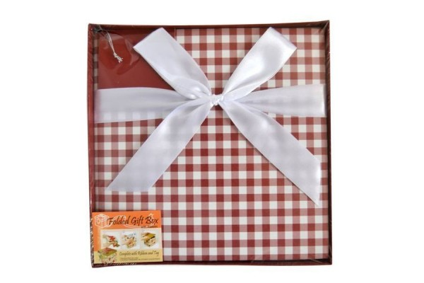Коробка подарочная раскладная, КЛЕТКА, 22*22*21 см, картон