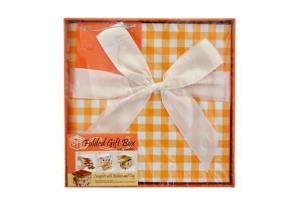 Коробка подарочная раскладная, КЛЕТКА, 15*15*15 см, картон
