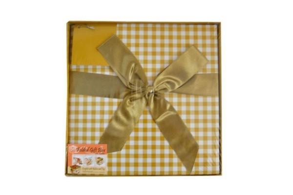 Коробка подарочная раскладная, КЛЕТКА, 25*25*25 см, картон