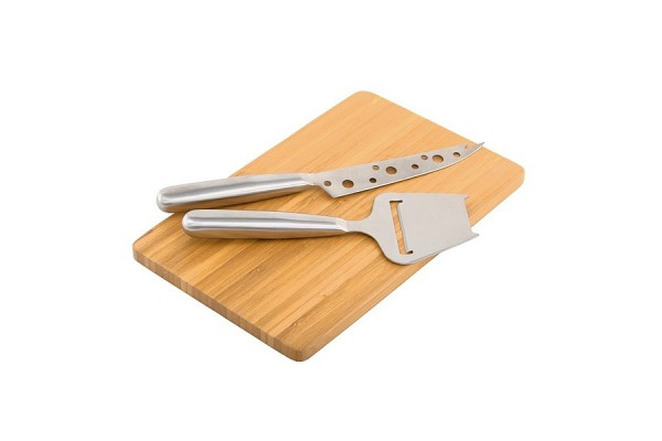 Набор для сыра из трех предметов (коричневый / серебристый)