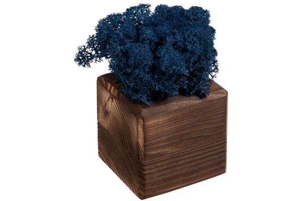 Декоративная композиция GreenBox Fire Cube, синий