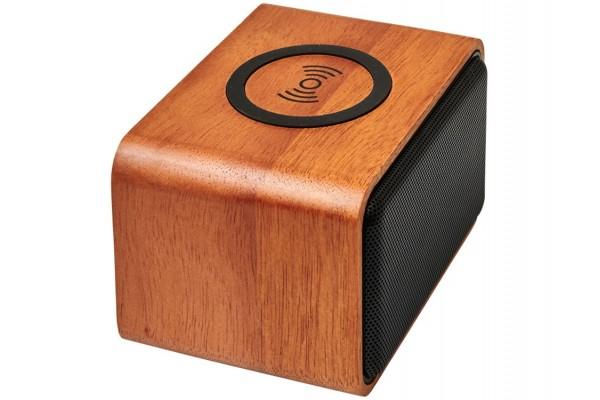 Динамик Wooden с беспроводной зарядкой