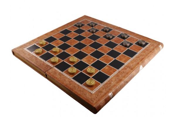 Набор: нарды и шашки, бежевый