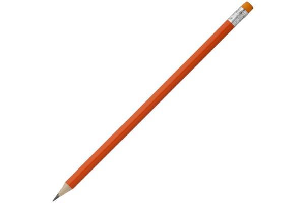 Карандаш Эко простой Hand Friend с ластиком, оранжевый