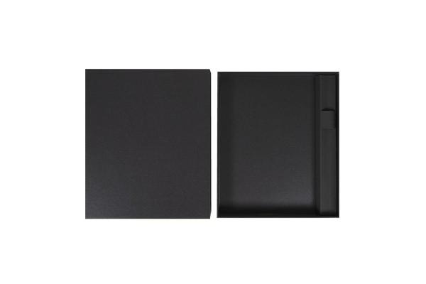 Коробка под ежедневник 145*205 мм и ручку, картон, черный
