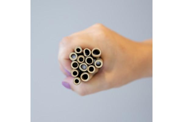 Многоразовые эко-трубочки для напитков Bamboo, набор 6 шт.