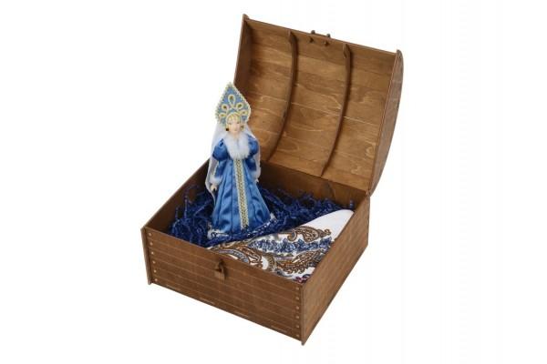 Подарочный набор Снегурочка: кукла, платок