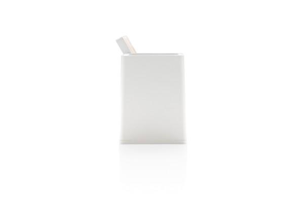 Док-станция Ontario для беспроводной зарядки с подставкой для ручек, 5W, белый