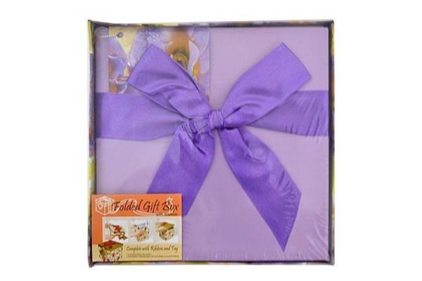 Коробка подарочная раскладная, ЦВЕТЫ, 17*17*17 см, картон