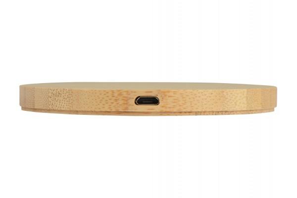 Беспроводное зарядное устройство из бамбука Cap