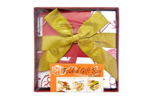 Коробка подарочная раскладная, розовая, 10*10*9 см, картон