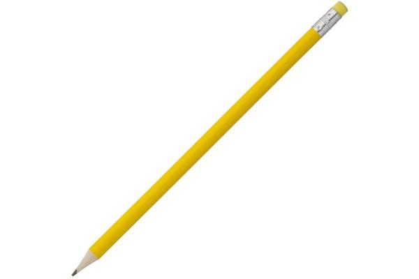 Карандаш Эко простой Hand Friend с ластиком, желтый