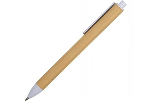 Ручка картонная шариковая Эко 2.0 белая