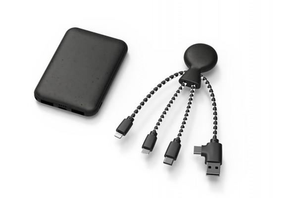 Портативное зарядное устройство BioPack c кабелем Mr. Bio, 5000 mAh