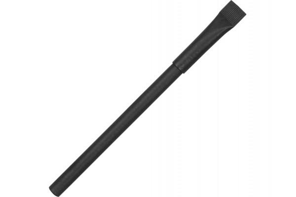 Ручка черный картон с колпачком Recycled