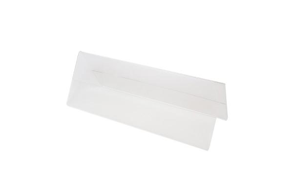 Подставка настольная двусторонняя для презентаций, прозрачный пластик, 300х100 мм