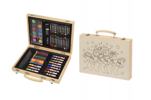 Набор для рисования в чемодане с рождественским рисунком