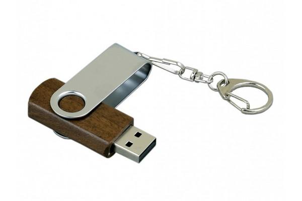 USB 2.0 эко флешка промо на 16 Гб с поворотным механизмом (под дерево)