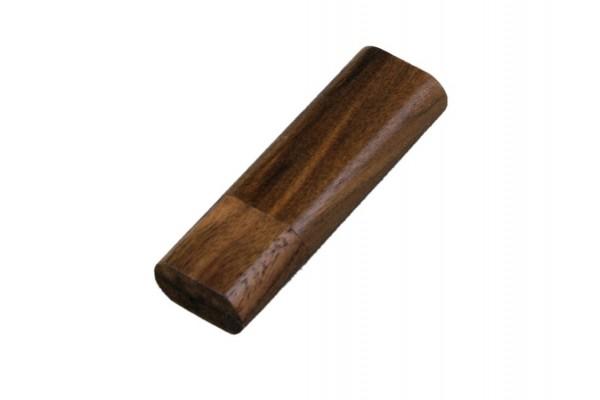 USB 2.0 эко флешка на 16 Гб эргономичной прямоугольной формы с округленными краями (под дерево)