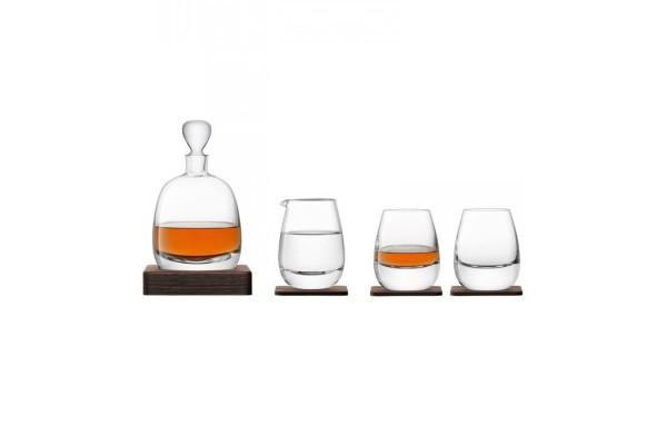 Набор для виски Islay Whisky с деревянными подставками