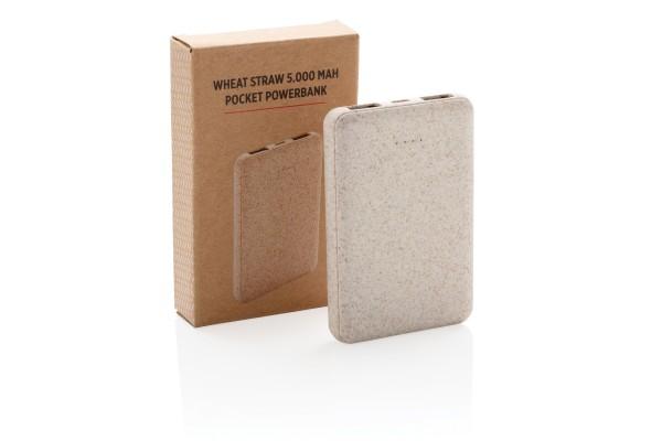 Карманный внешний аккумулятор Wheat Straw, 5000 mAh