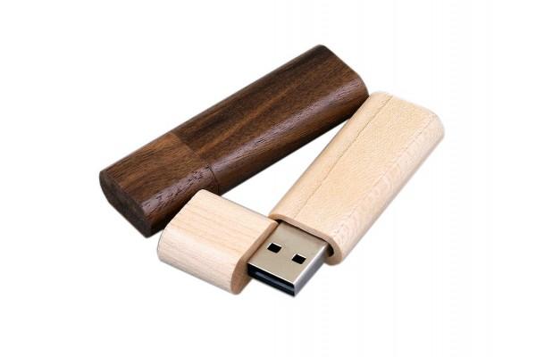 USB 2.0- флешка на 64 Гб эргономичной прямоугольной формы с округленными краями