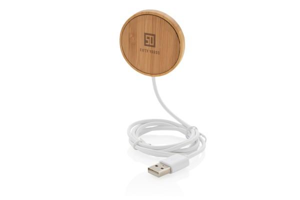 Магнитное устройство для беспроводной зарядки Bamboo, 10 Вт
