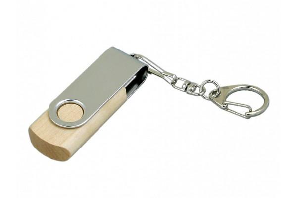 USB 2.0 эко флешка промо на 16 Гб с поворотным механизмом белая